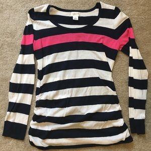 Navy, pink, & white Motherhood Maternity sweater